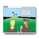 Semaphore Warning Mousepad