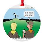 Semaphore Warning Round Ornament