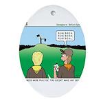 Semaphore Warning Ornament (Oval)