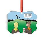 Semaphore Warning Picture Ornament