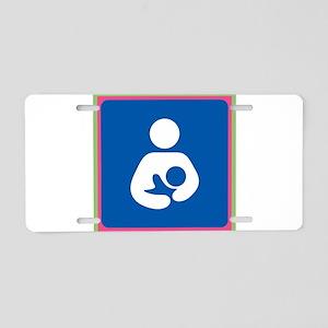 Brestfeeding Icon Aluminum License Plate