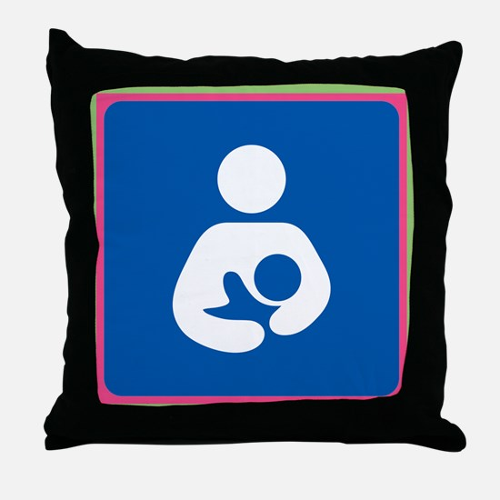 Brestfeeding Icon Throw Pillow