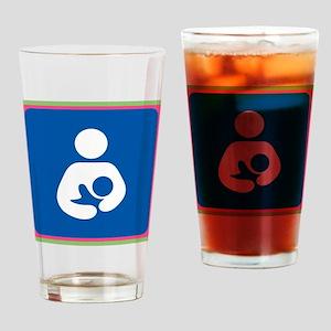 Brestfeeding Icon Drinking Glass
