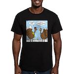 Talking Turkey Men's Fitted T-Shirt (dark)