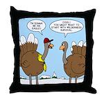 Talking Turkey Throw Pillow