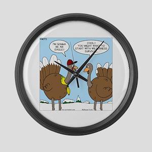 Talking Turkey Large Wall Clock