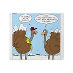 Talking Turkey Throw Blanket