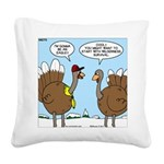 Talking Turkey Square Canvas Pillow
