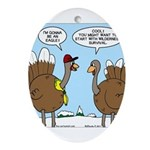 Talking Turkey Ornament (Oval)