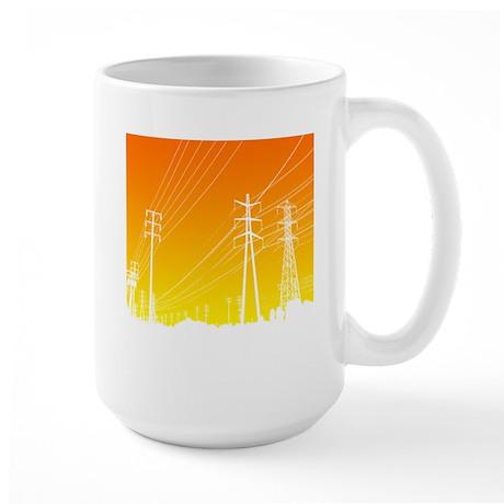 Power lines Large Mug