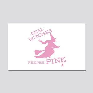 Pink Witch Car Magnet 20 x 12