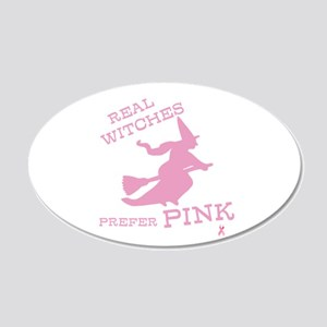 Pink Witch 20x12 Oval Wall Decal