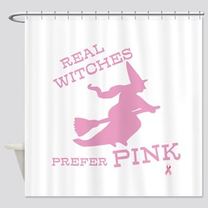 Pink Witch Shower Curtain