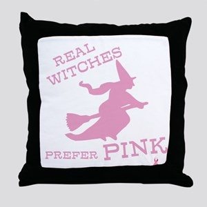 Pink Witch Throw Pillow