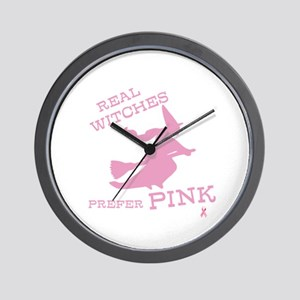 Pink Witch Wall Clock