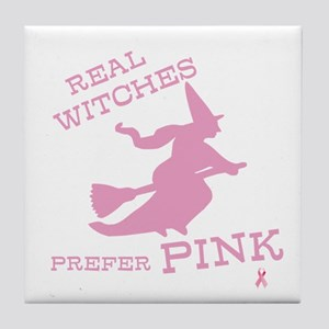 Pink Witch Tile Coaster