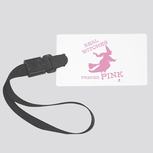 Pink Witch Large Luggage Tag