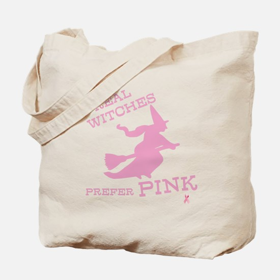 Pink Witch Tote Bag