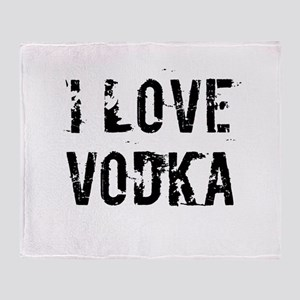 I LOVE VODKA Throw Blanket