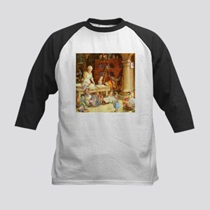 Mrs. Claus and the Elves Bake Kids Baseball Jersey