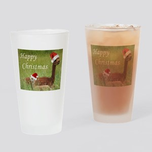 Mother and Baby Christmas Drinking Glass
