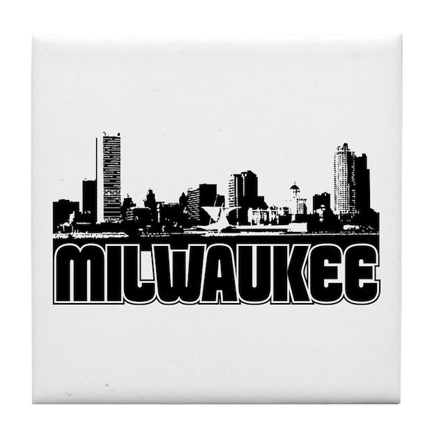 Milwaukee Skyline Tile Coaster By Trutherdare