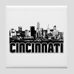 Cincinnati Skyline Tile Coaster
