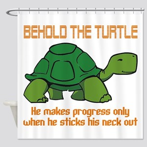 behold the turtle Shower Curtain