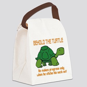 behold the turtle Canvas Lunch Bag