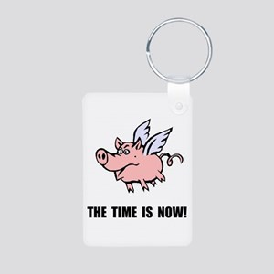 When Pigs Fly Aluminum Photo Keychain