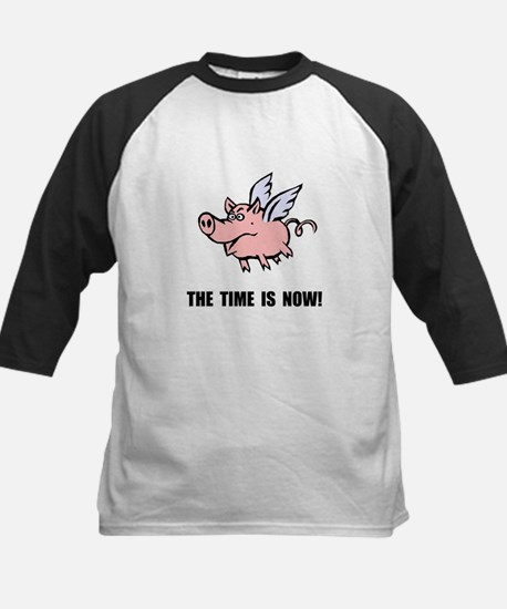 When Pigs Fly Kids Baseball Jersey