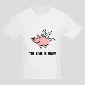 When Pigs Fly Kids Light T-Shirt
