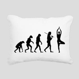 The Evolution Of Yoga Rectangular Canvas Pillow