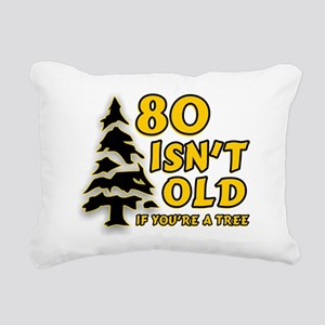 80 Isnt old Birthday Rectangular Canvas Pillow