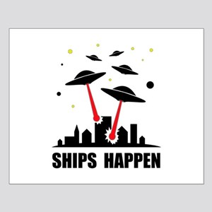 UFO Ships Happen Small Poster