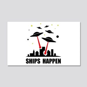 UFO Ships Happen 20x12 Wall Decal