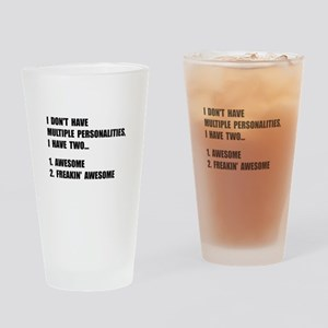 Two Personalities Drinking Glass