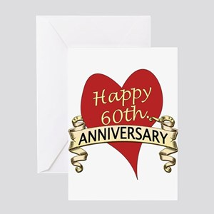 60th anniversary greeting cards cafepress 60th anniversary greeting cards m4hsunfo