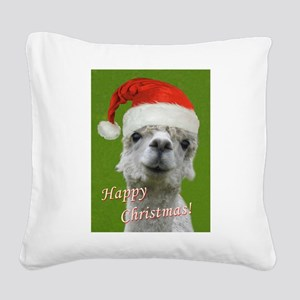 Cuddle Me Christmas Square Canvas Pillow