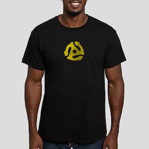 45 RPM Adaptor Men's Fitted T-Shirt (dark)