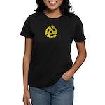 45 RPM Adaptor Women's Dark T-Shirt