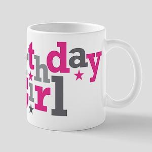 Pink Birthday Girl Star Mug