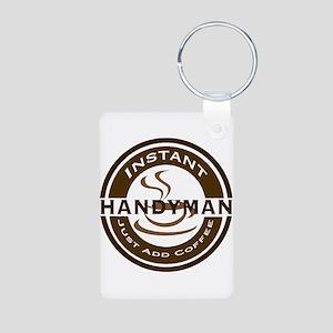 Instant Handyman Coffee Aluminum Photo Keychain