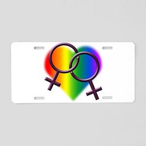 Rainbow Love Gay Pride Aluminum License Plate