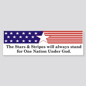Stars & Stripes Bumper Sticker
