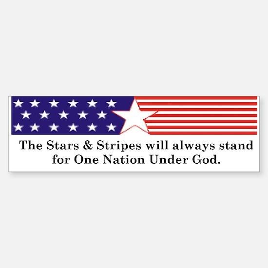 Stars & Stripes Bumper Bumper Bumper Sticker