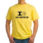 I Love Science Yellow T-Shirt