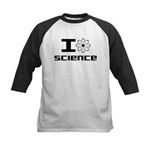 I Love Science Kids Baseball Jersey