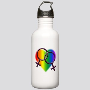 Rainbow Love Gay Pride Stainless Water Bottle 1.0L