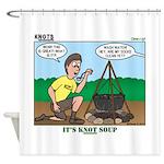 KNOTS Soup Shower Curtain